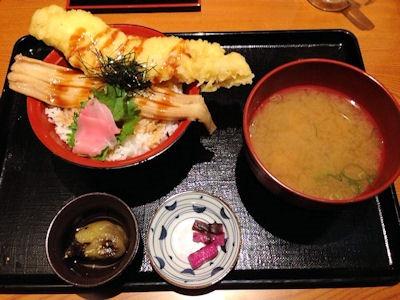 海鮮居酒屋花の舞伝助穴子W丼