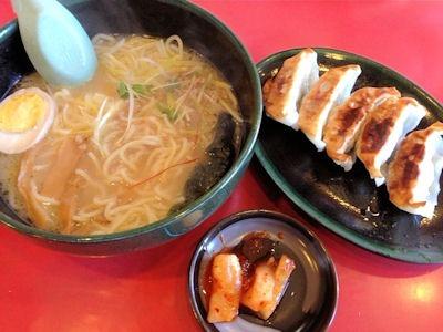 東麺房鶏白湯ラーメンと餃子