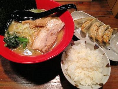 横浜ラーメン一心家元祖ラーメン(とんこつ醤油)Aセット