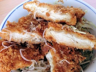 かつやガツ盛り野菜のチキンカツ丼
