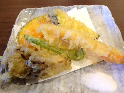浜名湖鰻うな髙う巻きミニ懐石の天ぷら盛りあわせ
