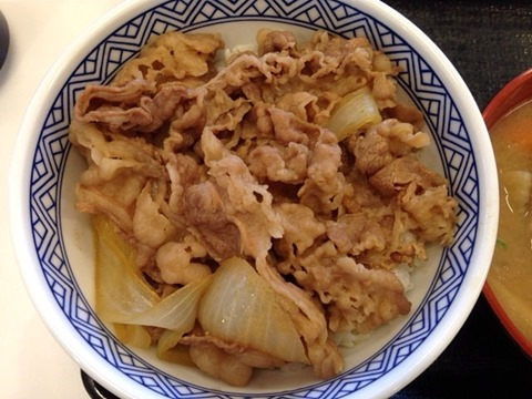 吉野家牛丼(並)
