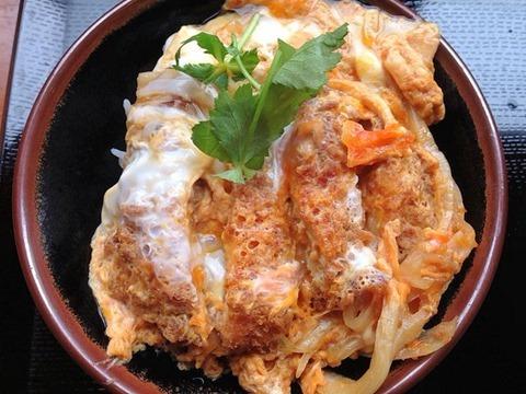 丸亀製麺カツ丼定食(ぶっかけうどん)