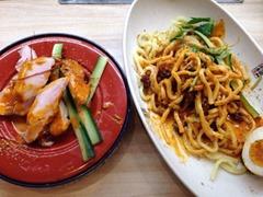 くら寿司コク旨冷やし担々麺と四川風蒸し鶏
