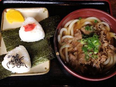 池田製麺所真心うどん米田店肉うどんセット