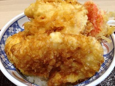 揚げ天まるオリジナル天丼の鶏天