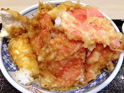 揚げ天まるオリジナル天丼の紅しょうが天