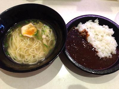 はま寿司旨だし鶏塩ラーメンとTOKYO黒カレー