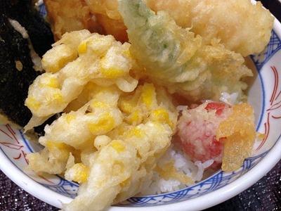 揚げ天まる旬の夏野菜たっぷり天丼