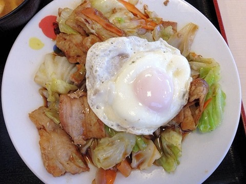 松屋肉野菜の鉄板焼き定食
