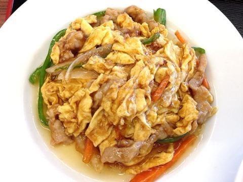 台湾料理龍祥日替わりランチ豚肉と玉子炒め