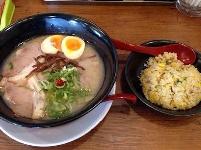ラーメン獅子○(ししまる)炒飯セット