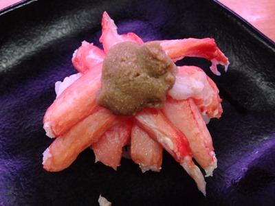 スシロー紅ずわい蟹てんこ盛り