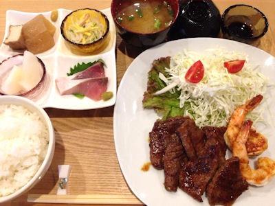 遊食家Shu本日の日替りランチ(焼肉定食)