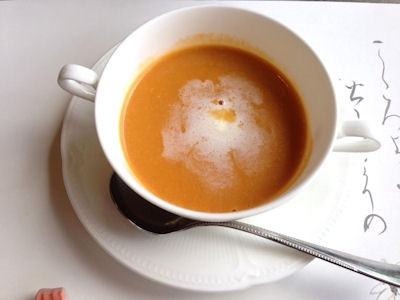 活伊勢海老料理中納言もみじ伊勢海老のスープ