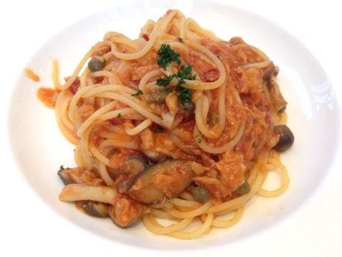 ペペ アーリオ選べるパスタランチツナときのこのパスタ トマトソース