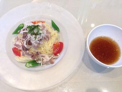 ペペ アーリオ選べるパスタランチ牛シャブと季節野菜のつけパスタ