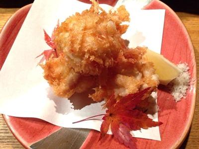 天ぷらと肉寿司燈花たら白子のパン粉揚げ ~トリュフ塩添え~
