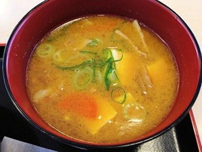 松屋牛とじ丼豚汁セット6