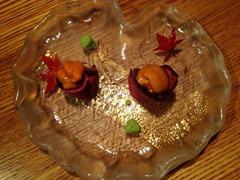 天ぷらと肉寿司燈花生うにと黒毛和牛ローストビーフ