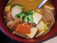 松屋牛とじ丼豚汁セット7