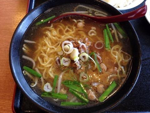 錦福香牛ミソ焼肉定食の台湾ラーメン