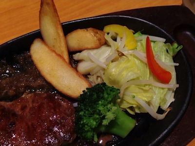 ステーキ宮温野菜と宮ロースランチ