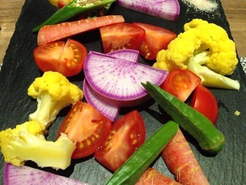 DINING花本日の新鮮野菜柚子味噌添え