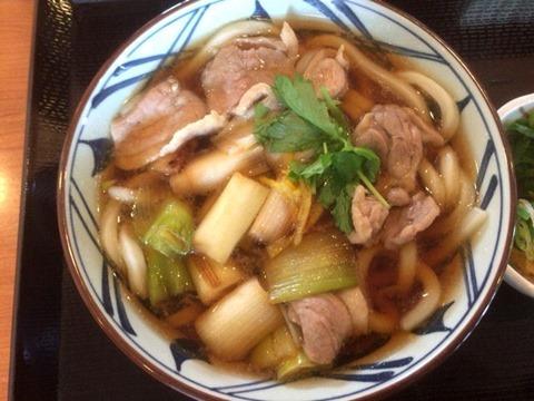 丸亀製麺鴨ねぎうどん(並)