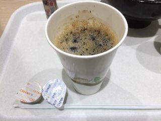 リンガーハット牛・がっつりまぜめんのアイスコーヒー