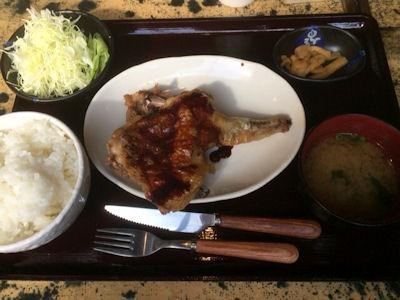 釜飯と串焼とりでんLボーンチキン定食(テリヤキ)