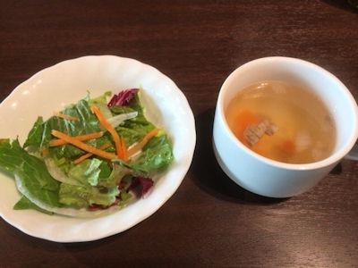 いきなりステーキワイルドステーキのサラダとスープ