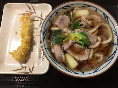 丸亀製麺夜なきうどん鴨ねぎうどん