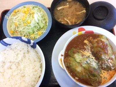 松屋ロールキャベツ定食