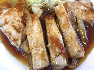 松屋厚切りポークステーキ定食