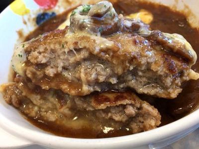松屋ブラウンソースチーズハンバーグ定食