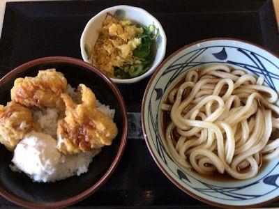 丸亀製麺タル鶏天丼とぶっかけ(並)