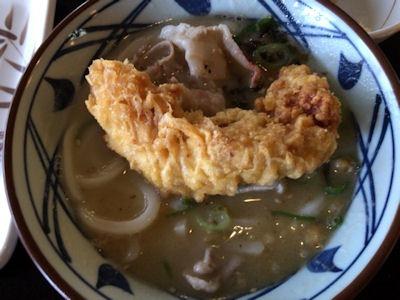 丸亀製麺とんこつうどんとかしわ天