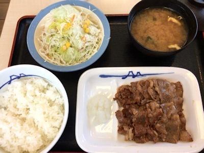 松屋カルビ焼肉定食