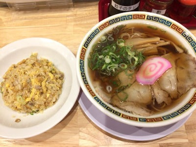 肉そば麺達半チャーハン+中華そば