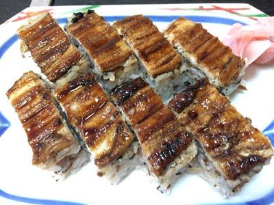 いのもと穴子の箱寿司