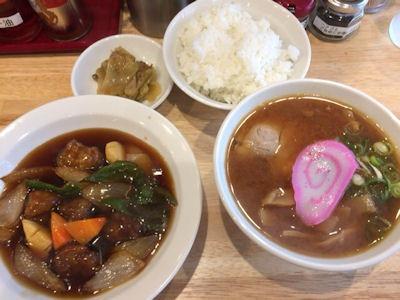 肉そば 麺達日替わり定食