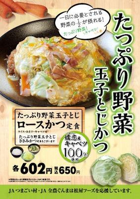 とんかつ松のやたっぷり野菜玉子とじロースかつ定食