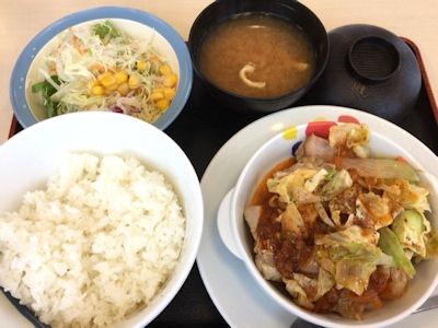 松屋ケイジャンチキン定食