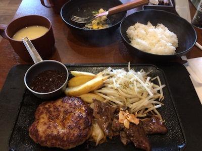 洋食のまなべよくばり肉肉コンビ