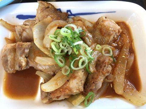 松屋鶏のバター醤油炒め定食