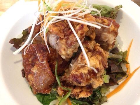 肉そば麺達日替わり定食の油淋鶏