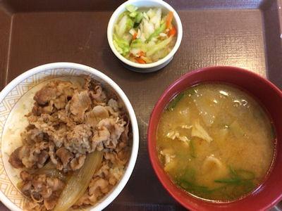 すき家牛丼カレーとん汁おしんこセット