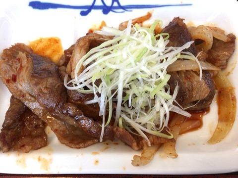 松屋牛焼肉の旨辛炒め定食