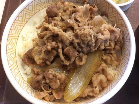 すき家牛丼カレーとん汁お新香セット